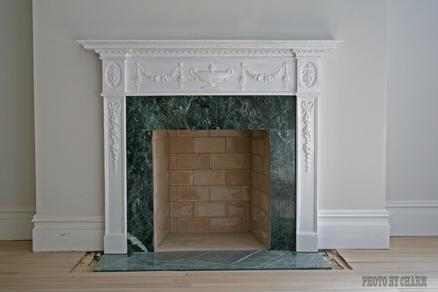 Brick Marble Fireplace Mantle