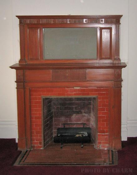 FIREPLACE BRICK WOOD